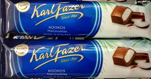 Fazer Suklaapatukka Kookos 新製品 チョコ ココナッツ