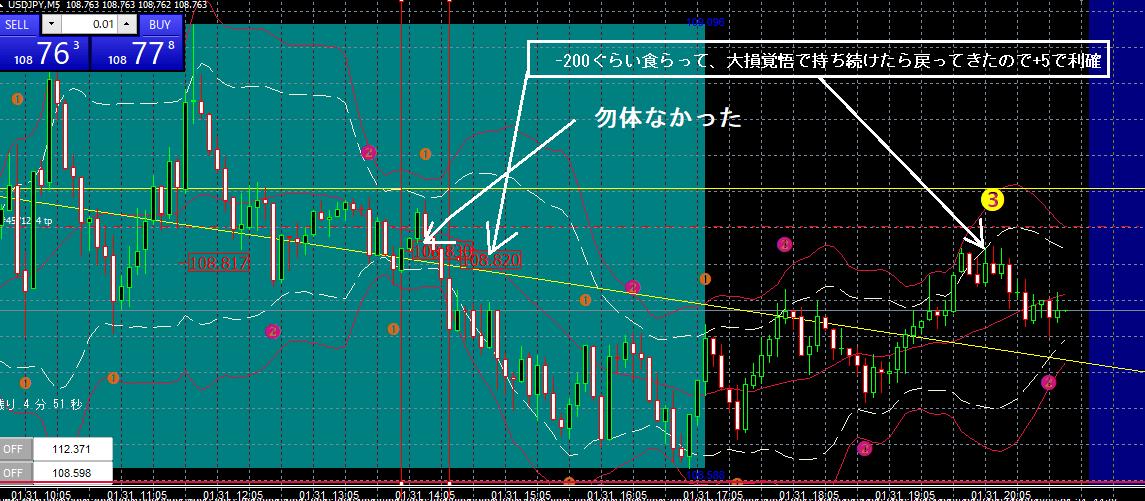 ドル円 1-31 M5-min