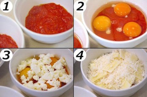 モッツァレラと卵のグランの作り方