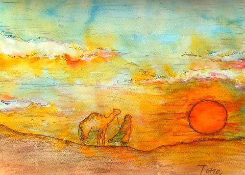 サハラの夕日