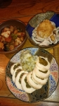 メキシカン筑前煮と高菜チキンロールとガツポン酢