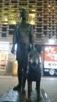 新橋少女と盲導犬像