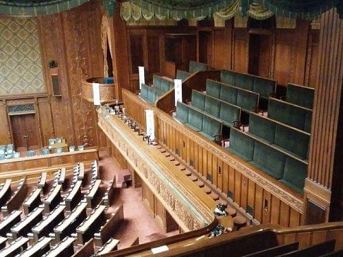 衆議院・議場記者席