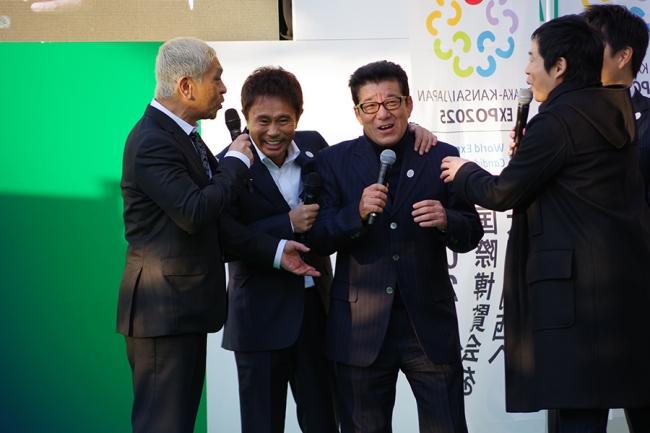 全員同い年という松本人志、浜田雅功、松井大阪府知事
