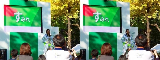 「御堂筋ランウェイ」大阪×阪急イングスファッションショー すみれ①(交差法)