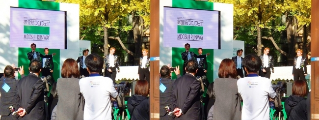 「御堂筋ランウェイ」OSK日本歌劇団によるパフォーマンス③(交差法)