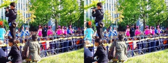 「御堂筋ランウェイ」OSK日本歌劇団によるパフォーマンス①(平行法)
