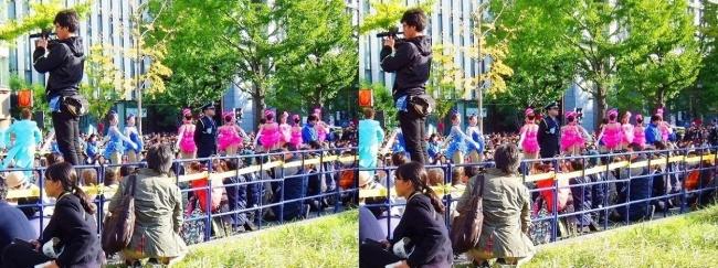 「御堂筋ランウェイ」OSK日本歌劇団によるパフォーマンス①(交差法)