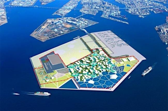 2025年国際博覧会(万博)大阪万博の会場構想の全体図(経済産業省提供)