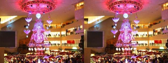 阪急百貨店祝祭広場 北欧クリスマスマーケット 光のヒンメリ2017.12.17②(平行法)