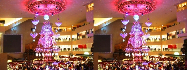 阪急百貨店祝祭広場 北欧クリスマスマーケット 光のヒンメリ2017.12.17②(交差法)