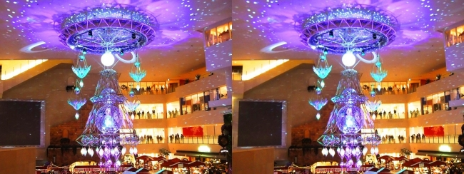 阪急百貨店祝祭広場 北欧クリスマスマーケット 光のヒンメリ2017.12.17①(平行法)