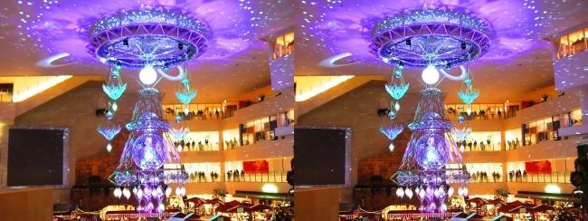 阪急百貨店祝祭広場 北欧クリスマスマーケット 光のヒンメリ2017.12.17①(交差法)