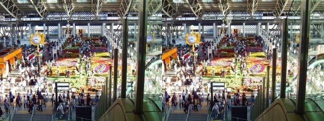 大阪ステーションシティ 時空の広場2017.10.8⑮(交差法)