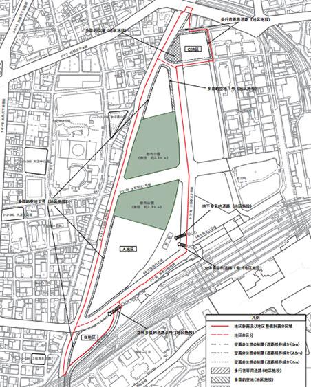 うめきた2期の地区計画説明図