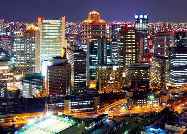 梅田スカイビルからの大阪ガーデンシティの夜景