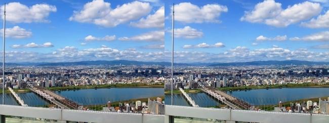 梅田スカイビル空中庭園展望台眺望2017.10.8⑥(平行法)