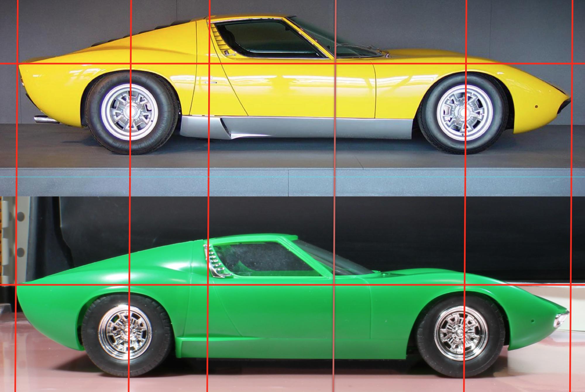 ミウラ実車と比較