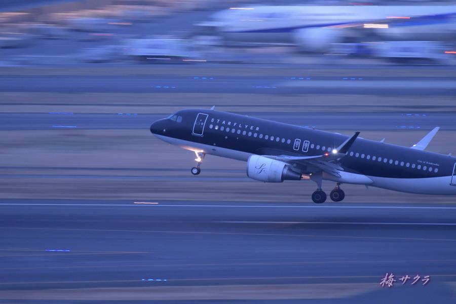 夜の飛行機撮影4変更済