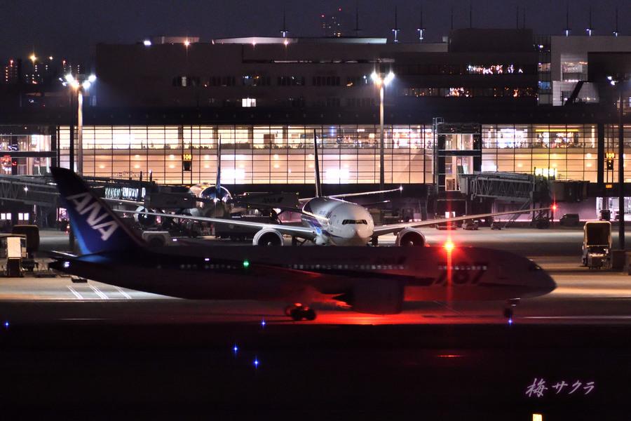 夜の飛行機撮影8変更済