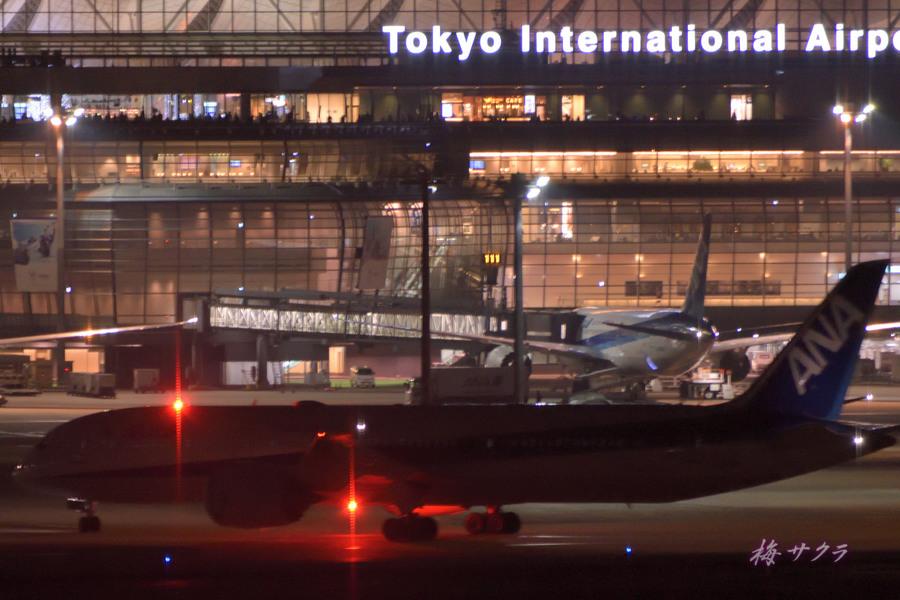 夜の飛行機撮影10変更済