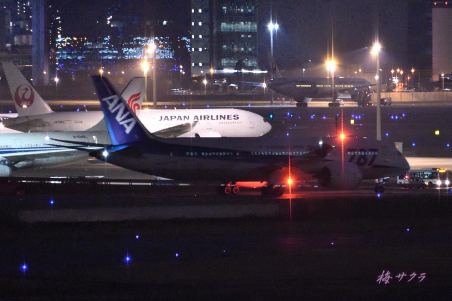 夜の飛行機撮影9変更済