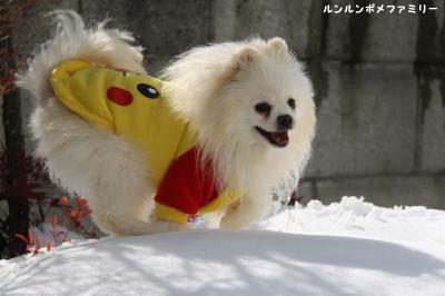 利温 雪遊び笑顔②
