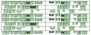 KD13-05 4連X2【武蔵模型工房 Nゲージ 鉄道模型】