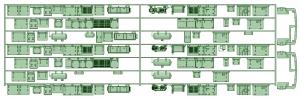 KD13-11 13022F7連_スカート【武蔵模型工房 Nゲージ 鉄道模型】