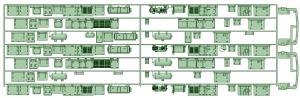 KD13-12 13023F7連_スカート【武蔵模型工房 Nゲージ 鉄道模型】