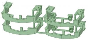 KD13-21 13000系スカート(4連×2)【武蔵模型工房 Nゲージ 鉄道模型】-2