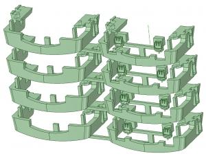 KD13-22 13000系スカート(4連×4)【武蔵模型工房 Nゲージ 鉄道模型】-2