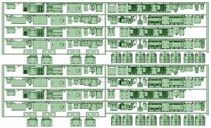NK20-12 2000系4連床下機器×2セット【武蔵模型工房 Nゲージ 鉄道模型】