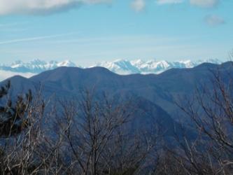 山頂の眺望(穂高・槍方面)