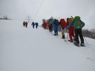 雪原の登り