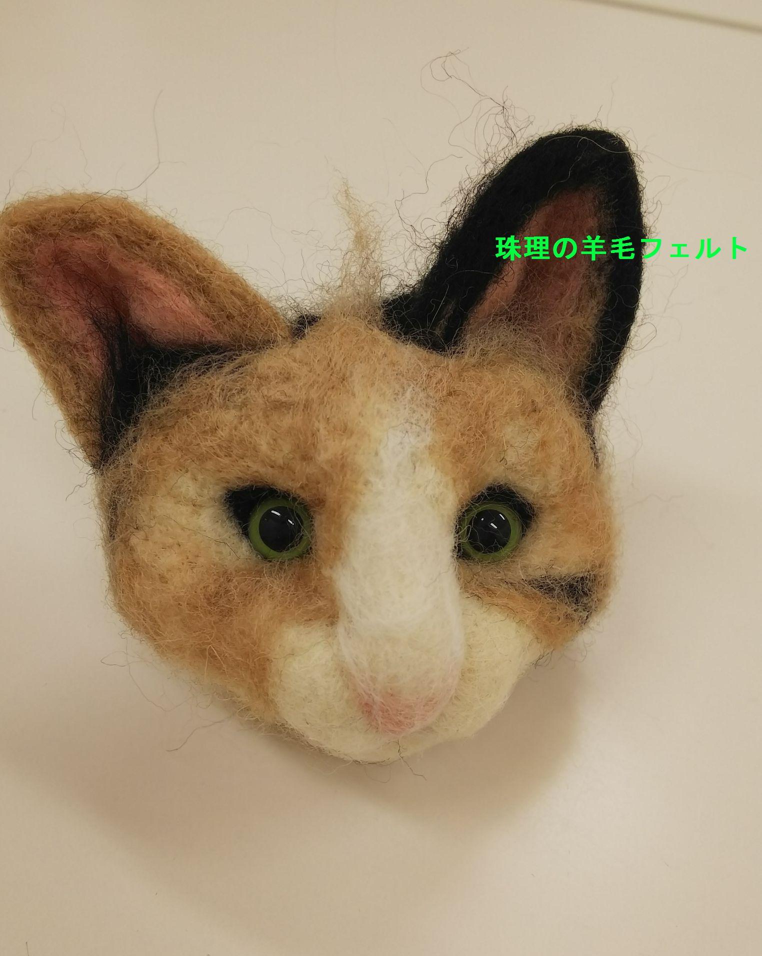 20180120 羊毛フェルトの猫 顔