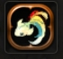 神秘的な虹色の金魚