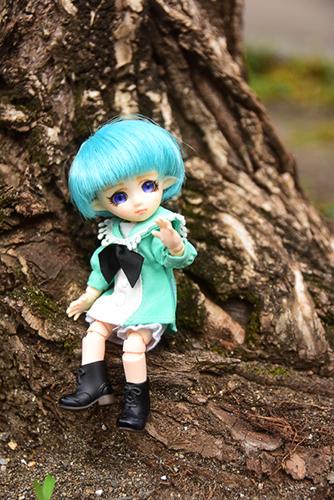 PARABOX・プチフェアリーをメイクした、ふうちゃん。初めてお外で写真を撮りました。ふうちゃんの公園デビューです。