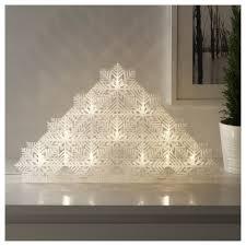 LEDテーブルデコレーション 雪の結晶