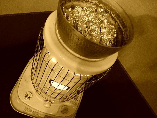 ストーブ焼き芋
