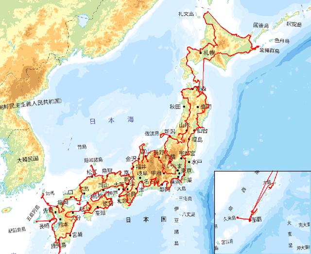 日本一周 ルート完