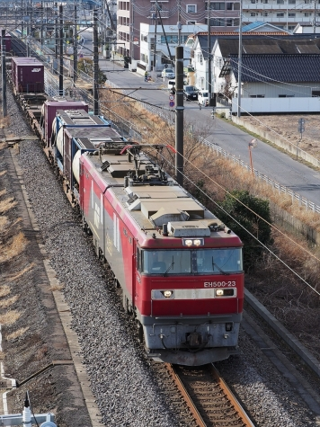 JR貨物 EH500-23 電気機関車【土浦運輸区付近】