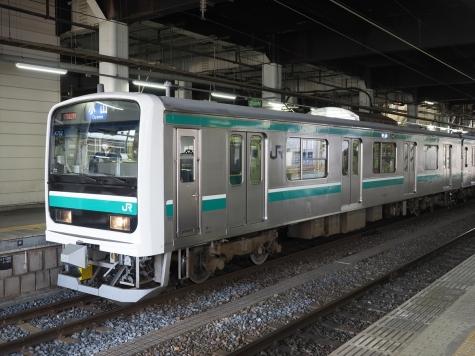 JR水戸線 E501系 電車【水戸駅】