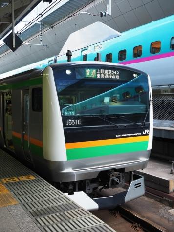 JR上野東京ライン E233系3000番台 電車