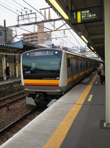 JR南武線 E233系8000番台 電車【稲田堤駅】