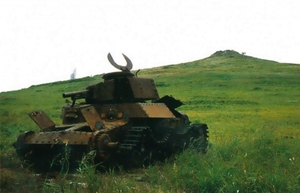 占守島の日本戦車の残骸
