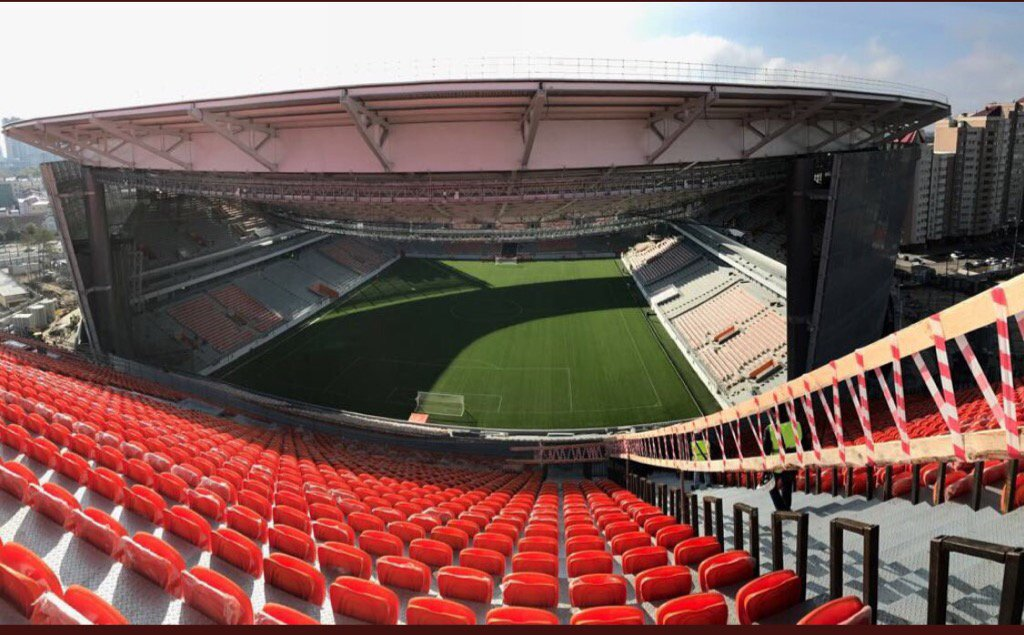 Ekaterinburg Arena needed more seats to meet the 35,000 seater capacity for next summers World Cup