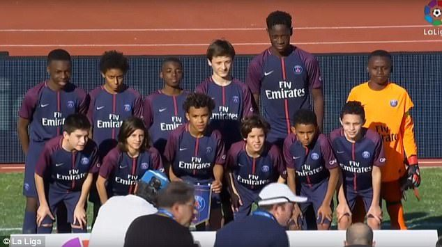 PSG have reportedly had to prove defender Bitshiabu El Chadaille is 12 years old