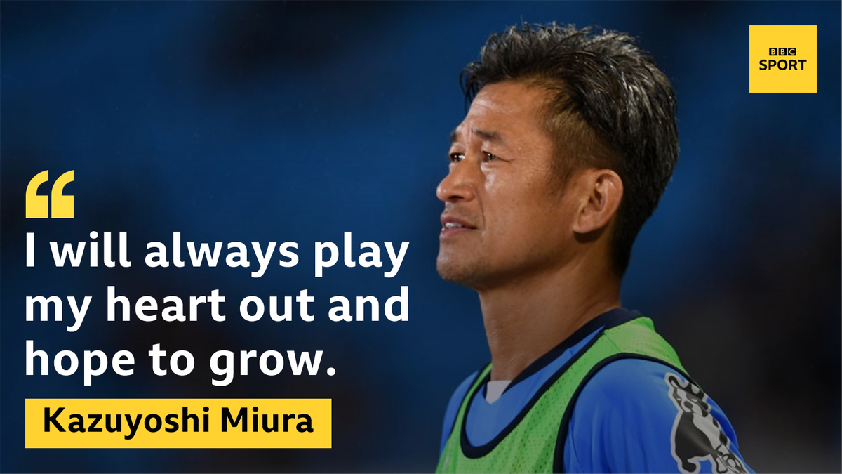 Kazuyoshi Miura Japanese striker signs new deal at 50