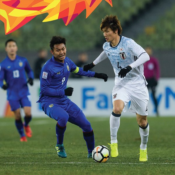 AFC U23 Championship 2018 Match Day 2 Group B japan 1 thai 0 itakura goal
